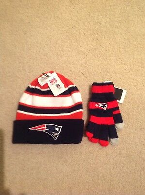 Hat And Gloves Set Patriots