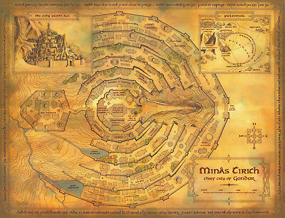 Middle-Earth The Lord Of The Rings Map Poster Print T1087 |A4 A3 A2 A1 A0|