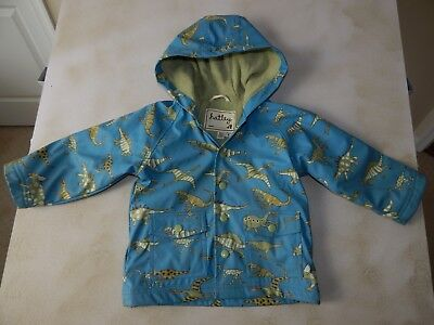HATLEY Boutique Blue Green T-REX DINOSAURS Raincoat Terry-Lined SIZE 2T