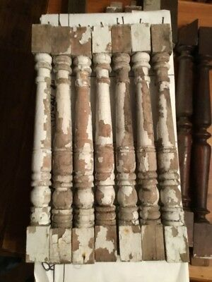 Victorian Wood Porch Balusters 1890ts Lot Of 8