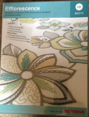 OESD for Bernina - Efflorescence 45 Embroidery Machine Designs -CD #82010