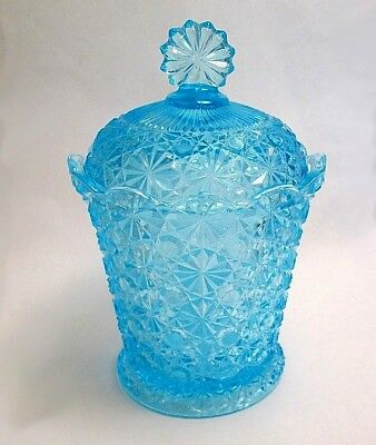 Fenton For L.G. Wright Covered Daisy & Button  Candy Jar
