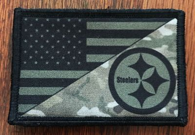 Pittsburgh Steelers USA FLAG Morale Patch Tactical Military Army Badge Football