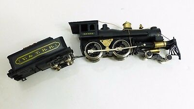 Vintage Rivarossi for AHM HO Scale 4-4-0 V&TRR Steam Locomotive & Tender C-5 MS