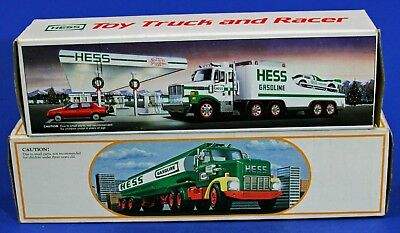 Boxed HESS 1984 Toy Truck Bank & 1988 Toy Truck and Racer - Free Shipping!