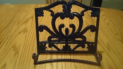 BLUE Heavy Enameled Cast Iron Kitchen Cookbook Book Podium Stand