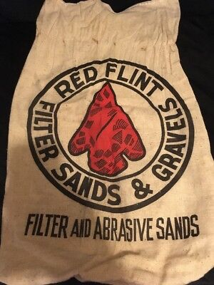 Vintage Red Flint Sack Bag