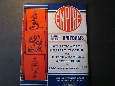 1942 Catalog Empire Uniforms Baseball Military Hiking Camping