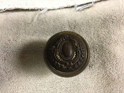 Antique Vintage Brass Or Bronze Door Knob Eastlake Victorian Ornate Handle