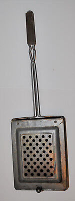 Antique Metal Fireplace Popcorn Popper