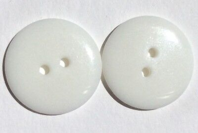 15 Pretty 23mm White Acrylic Buttons, Free Postage, Aussie Seller