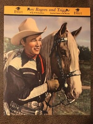 Roy Rogers and Trigger Dixie Ice Cream Premium Photo 1950's 8x10