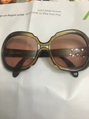 Vintage Optyl Sunglasses Made In Germany. Really nice condition Tortoise Green