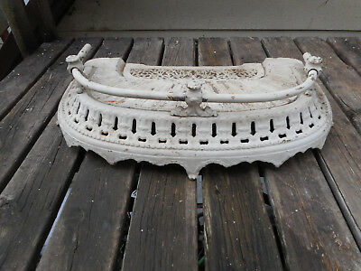 Very Fancy Antique 1850 American Cast Iron Fireplace Hearth/Fender-J.L.Jackson
