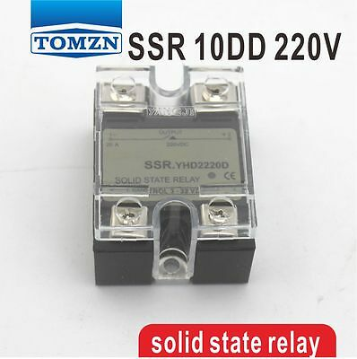 10DD SSR Control voltage 3~32VDC output 5~220VDC solid state relay