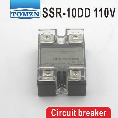 10DD SSR Control voltage 3~32VDC output 5-110VDC solid state relay