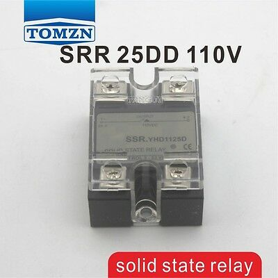 25DD SSR Control voltage 3~32VDC output 5~110VDC solid state relay
