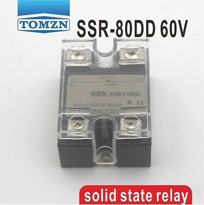 80DD SSR Control voltage 3~32VDC output 5~60VDC solid state relay