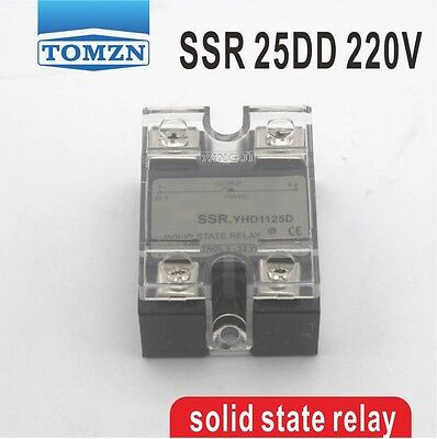 25DD SSR Control voltage 3~32VDC output 5~220VDC solid state relay