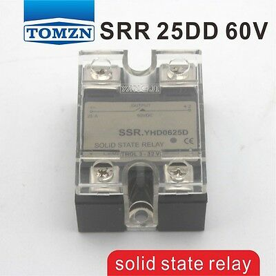 25DD SSR Control voltage 3~32VDC output 5~60VDC solid state relay