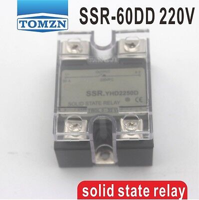 60DD SSR Control voltage 3~32VDC output 5~220VDC solid state relay