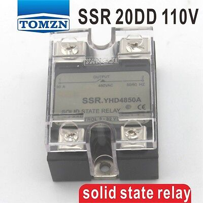 20DD SSR Control voltage 3~32VDC output 5~110VDC solid state relay