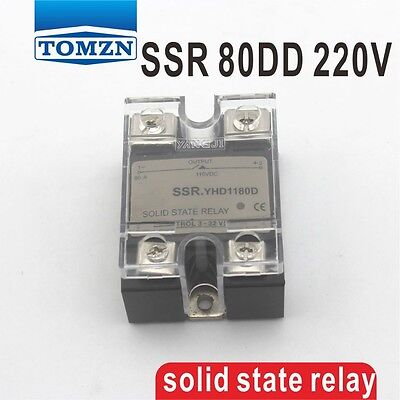 80DD SSR Control voltage 3~32VDC output 5~220VDC solid state relay