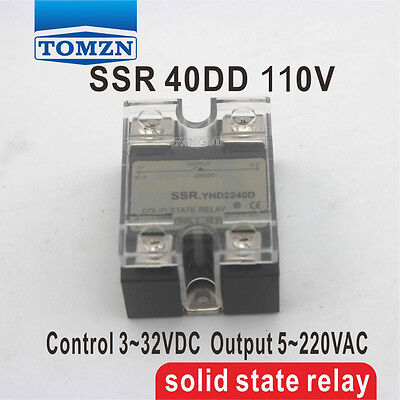 40DD SSR Control voltage 3~32VDC output 5~110VDC  solid state relay