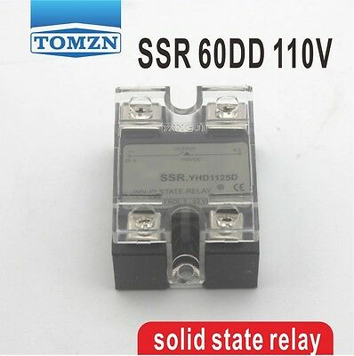 60DD SSR Control voltage 3~32VDC output 5~110VD solid state relay