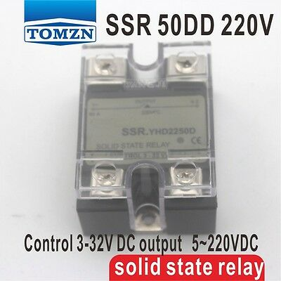 50DD SSR Control voltage 3~32VDC output 5~220VDC solid state relay