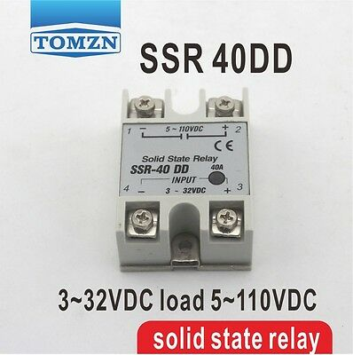 40DD SSR input 3~32VDC load 5~110VDC DC single phase DC solid state relay