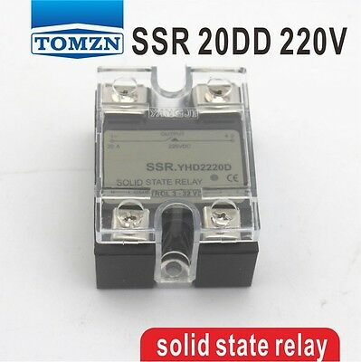 20DD SSR Control 3~32VDC output 5~220VDC DC single phase DC solid state relay