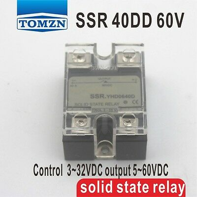 40DD SSR Control voltage 3~32VDC output 5~60VDC solid state relay