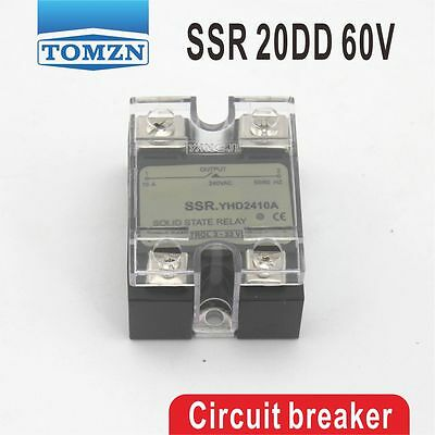 20DD SSR Control voltage 3~32VDC output 5~60VDC  solid state relay
