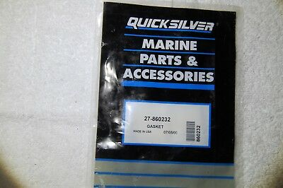 Mercury Quicksilver 27-860232 EXHAUST RISER GASKET NEW OE VERY FAST SHIPPING!!!!