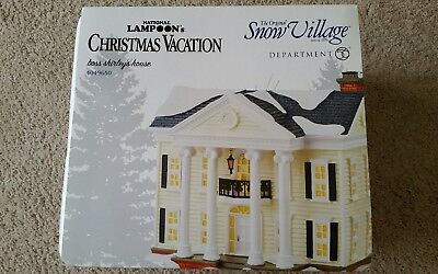 Dept 56 Snow Village Boss Shirley's House  Christmas Vacation #4049650 Brand New
