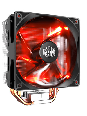 CoolerMaster Hyper 212 LED Turbo CPU Air Cooler(Red Top Cover)