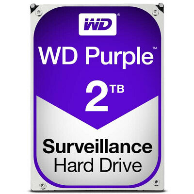 "Western Digital 2TB Purple 3.5"" Surveillance Hard Drive WD20PURX"