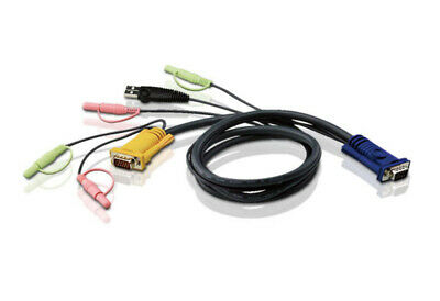ATEN 5M USB KVM Cable with 3 in 1 SPHD and Audio