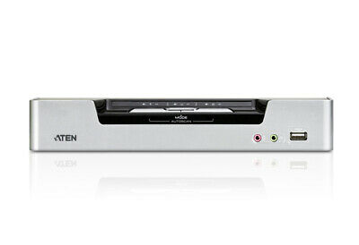 ATEN 2 Port USB Dual-View DVI KVMP Switch with Audio and USB 2.0 Hub(Cables Incl