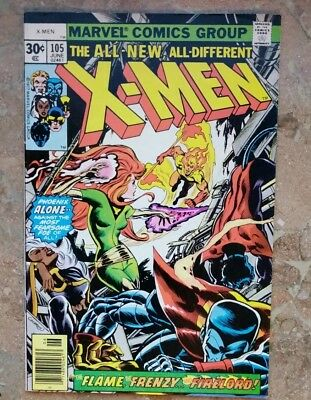 """X-Men  No.105    : 1977 :    : """"The Flame, The Frenzy, & Firelord! EARLY PHOENIX"""