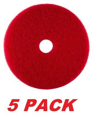 """ACS 51-14 Floor Buffing Cleaning Polishing Pads 14"""" Red, 5 PACK."""