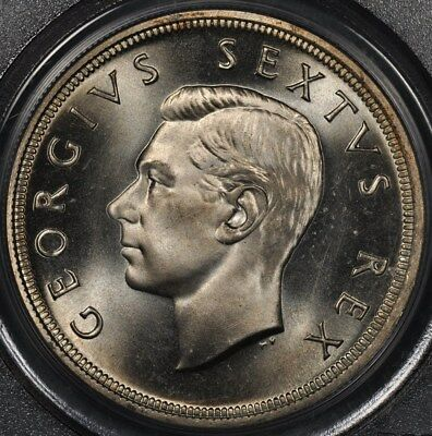 1949 Pcgs Pl66 South Africa Proof 5 Shillings