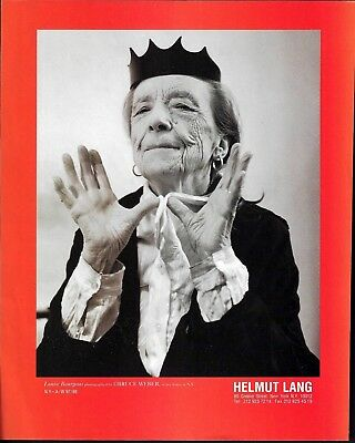 1998 Bruce Weber Art Photo Louise Bourgeois in NY Home Print Ad