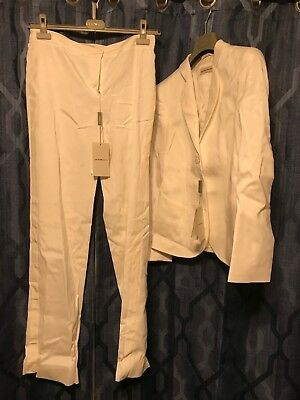 Emporio Armani Women's Pant Suit White Size 44 Italy 8 US New With Tags Never Wo