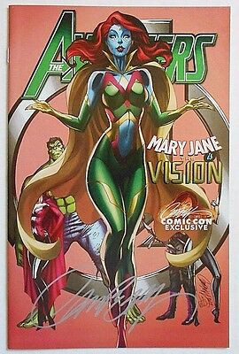 Avengers #8 (07/17) signed comic con variant by J Scott Campbell