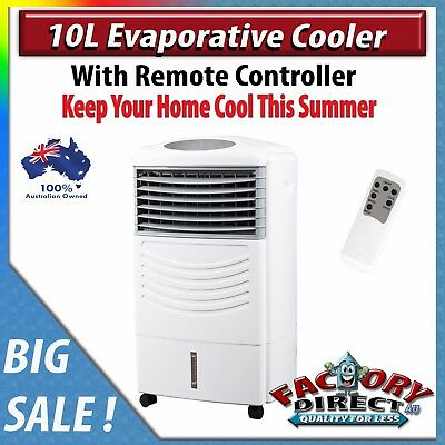 New Evaporative Air Cooler Portable Fan Conditioner Cooling Touch Pad Remote