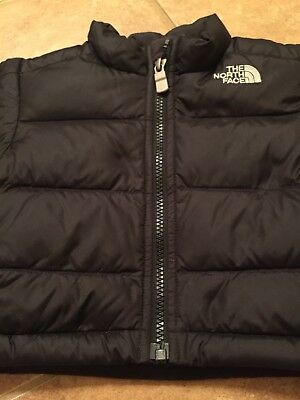 The North Face 3-6 Month Black Puffy Zip Up Jacket