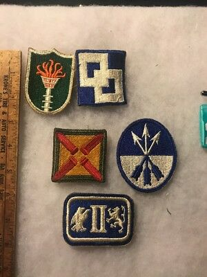 Lot Of 5 WW2 US Army Patches (A313
