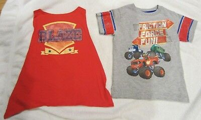 Blaze and the Monster Machines Pickle Boys T-Shirt Cape Size 5T Toddler NEW